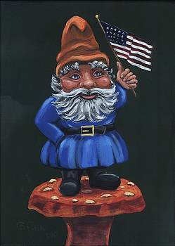 Patriotic Gnome by Gail Finn