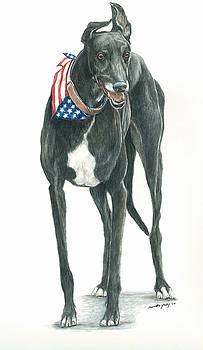 Patriotic Greyhound by Charlotte Yealey