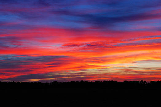 Patriotic Sunset by Francie Davis