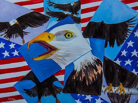 The American Eagle  by Vickie Myers