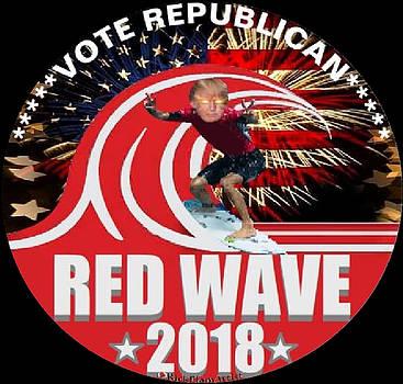 Patriotic Vote Republican Red Wave 2018 by Rick Elam