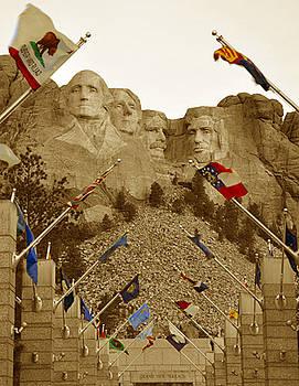 Patriotism at Mount Rushmore by Jennifer Ferrier