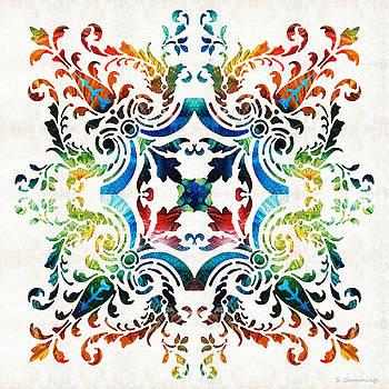 Sharon Cummings - Pattern Art - Color Fusion Design 7 By Sharon Cummings