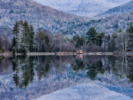 Patterns and Reflections at the Lake by Nancy De Flon