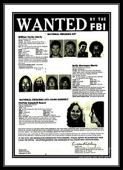 Patty Hearst Symbionese Liberation Army Wanted Poster September 1974 by Peter Gumaer Ogden Collection