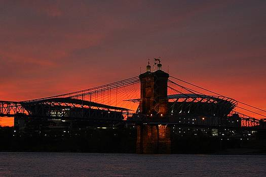 Paul Brown Stadium Sunset by Anthony Wilder