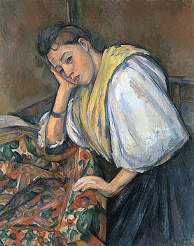 Paul Cezanne - Young Italian Woman at a Table by Bishopston Fine Art