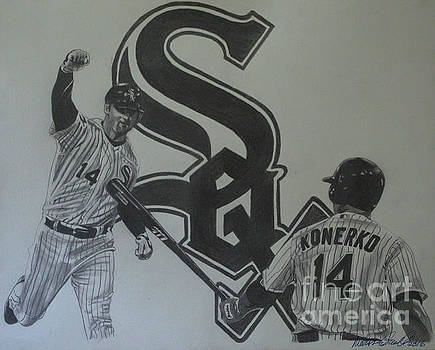Paul Konerko Collage by Melissa Goodrich