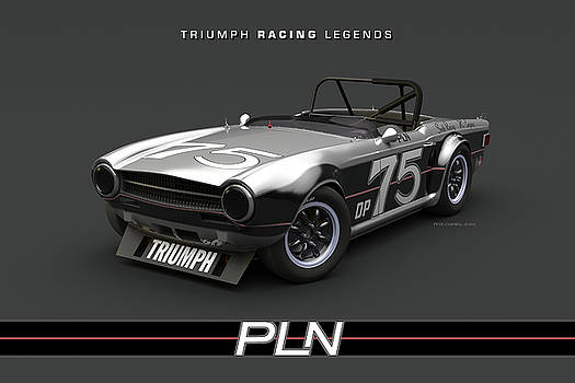 Paul Newman TR6 High Front Quarter by Pete Chadwell