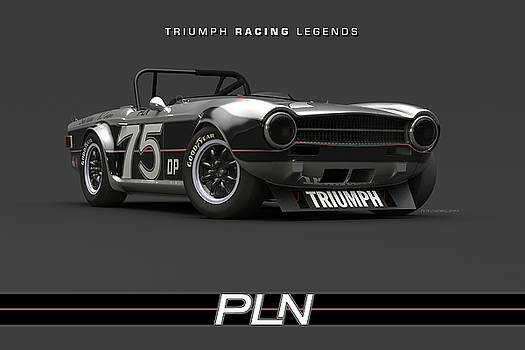 Paul Newman TR6 Low Front Quarter by Pete Chadwell