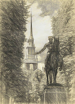 Paul Revere Rides Sketch by Thomas Logan