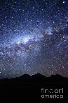 James Brunker - Payachatas Volcanos and Milky Way Bolivia