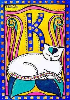 Peace And Love - Cat Art by Dora Hathazi Mendes by Dora Hathazi Mendes