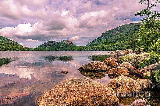 Peace and quiet at Jordan Pond lake by Claudia M Photography