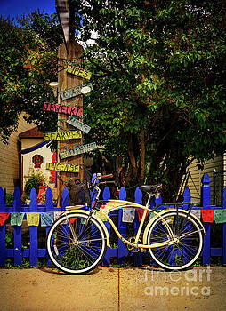 Peace Boho Bicycle by Craig J Satterlee