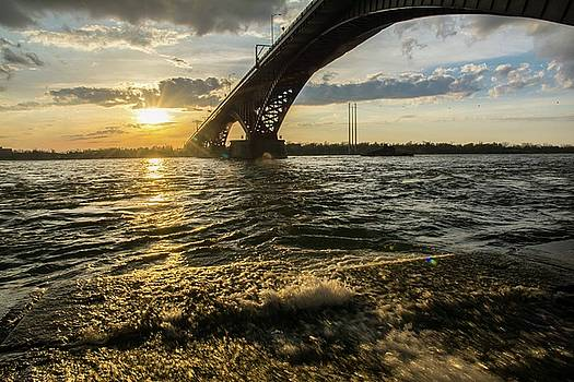 Peace Bridge Sunset by Colin Collins