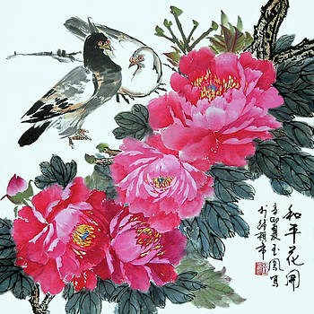 Peace Flowers by Yufeng Wang