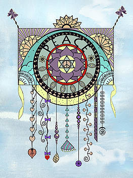Peace Kite Dangle Illustration Art by Deborah Smith