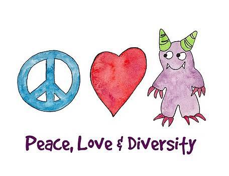Peace, Love and Diversity by Sarah Rosedahl