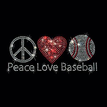 Peace Love Baseball  Art by Sheila Mcdonald