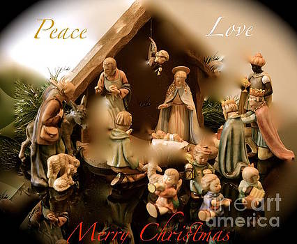 Peace Love Merry Christmas by Karen Francis