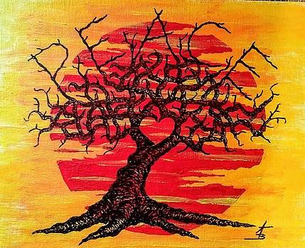 Peace Love Tree by Aaron Bombalicki