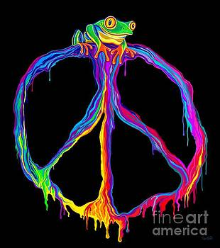 Peace Sign Frog by Nick Gustafson