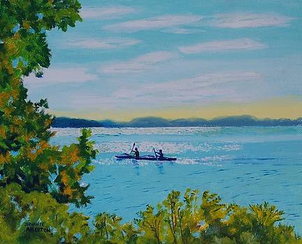 Peaceful and Easy Kayakers by Jeannie Allerton