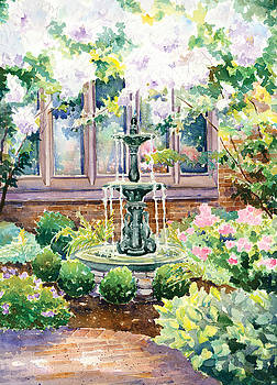 Peaceful Fountain by Denise Schiber
