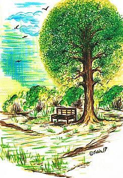 Peaceful Garden  by Teresa White