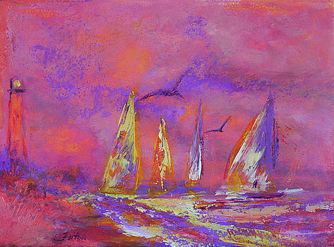 Peaceful morning sailboats 12-2-16 by Julianne Felton