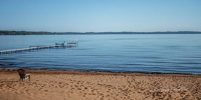 Grand Traverse Bay Beach-Michigan  by Joann Copeland-Paul