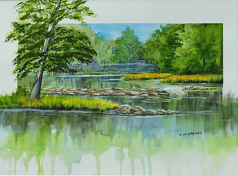 Peaceful River by John W Walker