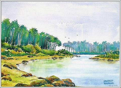Peaceful River by Sandeep Khedkar