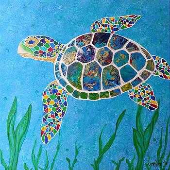 Peaceful Sea Turtle by Michelle Vyn