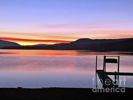 Peaceful Water Sunset by Victor K