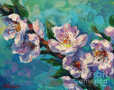 Svetlana Novikova - Peach Blossoms flowers painting