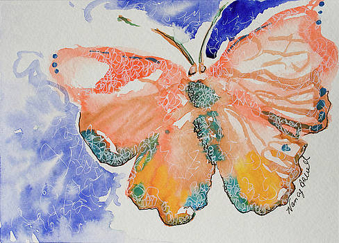 Peach Butterfly by Michele Hollister - for Nancy Asbell