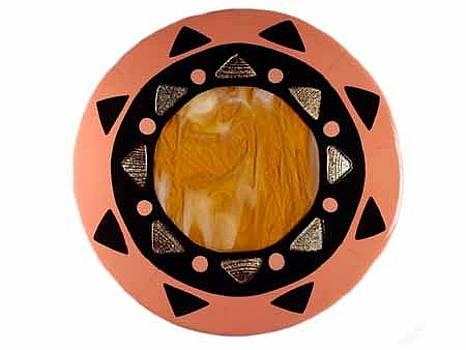 Peach Mandala by Sandy Feder