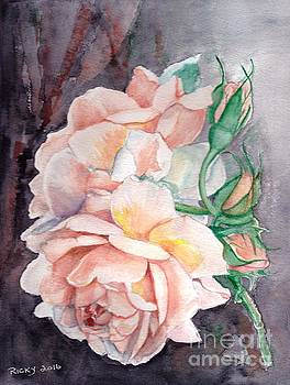 Peach Perfect - painting by Veronica Rickard