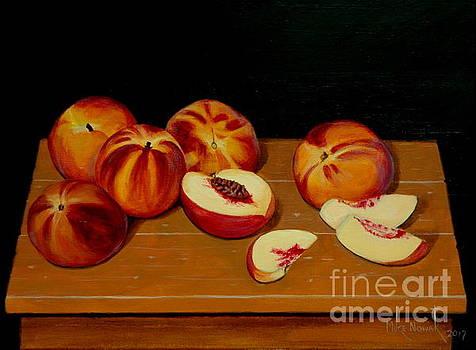Peach Still Life by Michael Nowak