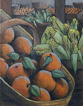 Peaches and Corn by Michael Beckett