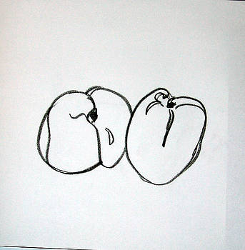 Peaches Too by Linda DiGusta