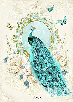 Peacock and Lace by Wendy Paula Patterson