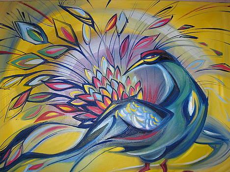 Peacock by Ekaterina Pozdniakova