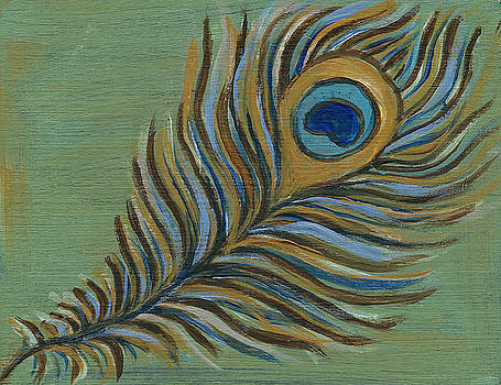 Peacock Feather by Kristen Fagan