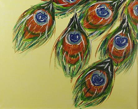Peacock Feathers by Seema Varma