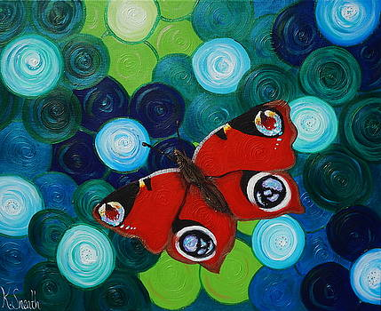 Peacock Butterfly by Kirsten Sneath
