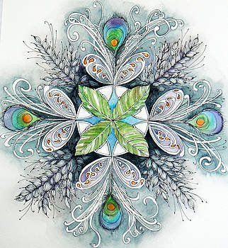 Peacock Mandala by Andrea Thompson