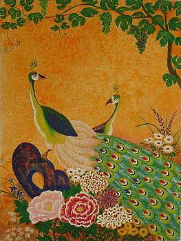 Peacocks by Silvia Gold